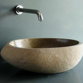 SJ-NSB01 ( Natural Cobble Stone) 돌세면기