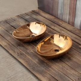 SJ-CB 02-2 , (Oval mirror copper ), 황동세면기