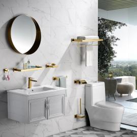 Matt Gold bathroom collection