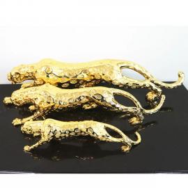 인테리어 장식품 소품 황금 호랑이 표범